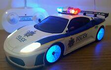 POLICE FERRARI RADIO REMOTE CONTROL CAR SIREN SOUND SIREN LED LIGHTS  FAST SPEED