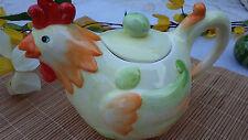 Zuckerdose / Deckeldose  HUHN  Deko   Keramik   handbemalt   20 x 14 cm