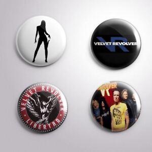 4 VELVET REVOLVER -  Pinbacks Badge Button 25mm 1''..