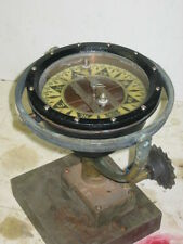 Wood Freeman Metal Marine Pilot Ship Brass Compass Nautical