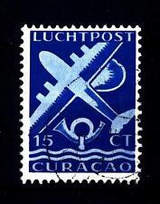 NETHERLANDS ANTILLES CURACAO - ANTILLE OLANDESI - PA - 1947 - Aerei e corno usat