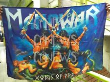 Gods Of War Manowar Flag Cloth Poster Wall Tapestry Banner Cd dvd Metal