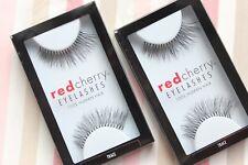 2x Red Cherry TRACE #217 falsche künstliche schwarze Echthaar-Wimpern strip lash