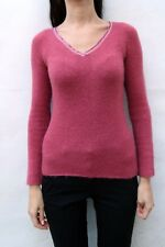 Liu Jo Jumper Top Cardigan Womens Dark Knit Sweater Top S Shirt blouses Fuxsia