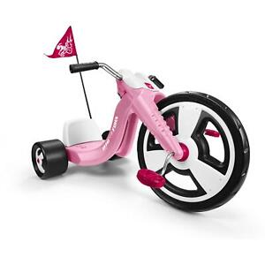 "Chopper Tricycle Girl Kids Trike Big Radio Flyer Sport 16"" Front Wheel, Pink NEW"