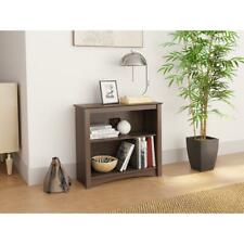 Prepac 29 in. Espresso Wood 2-shelf Standard Bookcase with Adjustable Shelves