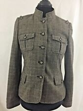 Banana Republic Women's 50% Wool 5 Buttons Tweed Lined Blazer Size 6