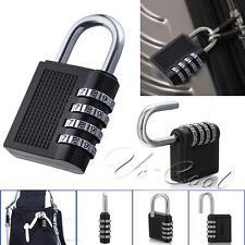 4 Digit Combination Padlock Black Number Luggage Travel Code Lock UK POST