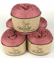 Alpaca Wool Skeins 100% Baby Alpaca Yarn Lot of 5  Rose Color 9365