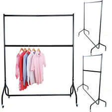 1Tier/2Tier Heavy Duty Clothes Garment Rail Home Shop Hanging Display Rack Stand