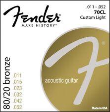 Fender 80/20 Bronze 70CL Acoustic Guitar Strings .011 - .052