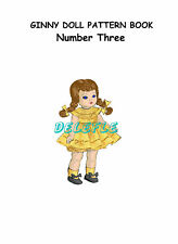 Ginny Doll Pattern 7-8 inch outfits Book No. 3 wardrobe Clothes