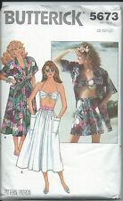 Butterick Misses Shirt Bra Shorts & Skirt Pattern 5673 Size 8 10 12 NEW UNCUT FF