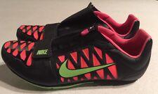 Nike Zoom LJ 4 Long Jump IV Cleats Spikes Black/Hyper Punch 415339-036 US 12.5