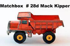 Matchbox Lesney Regular Wheels Series # 28d Mack Dump Truck / Kipper