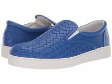 Bottega Veneta Men's Intrecciato Slip-On Sneaker Electric Blue AuthenticNEW $710