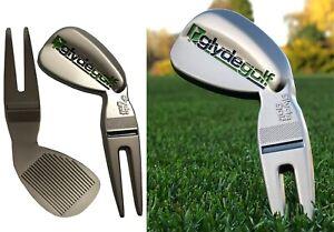 Glyde Golf Divot Tool / Pitch Mark Repairer Fork - Wedge Shaped
