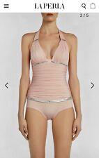 LA PERLA Pink Underwired Halterneck Swimsuit IT5 UK40 / 12-14 BNWT GENUINE
