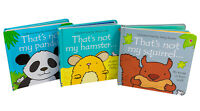 Usborne Touchy Feely (Squirel- Hamster- Panda) 3 Books Collection Brand NEW