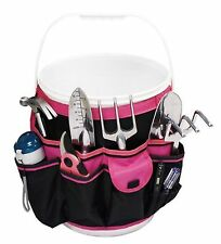 Apollo Precision Tools DT0825P Garden Tool Organizer Black/Pink 5-Gallon ... New