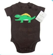 Carter's Dinosaur Applique Bodysuit – Chocolate Brown (GBC-500), Size: 9 months