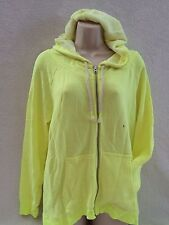 AERIE AMERICAN EAGLE WOMENS TERRY ZIP HOODIE SWEATER YELLOW LARGE NWT