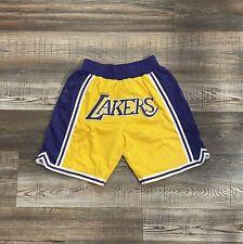 Los Angeles Lakers Basketball Shorts Lebron James Summer League Mens Size M-XL