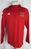 Miami Ohio Redhawks NCAA Men's adidas ClimaLite 1/4 Zip Hoodie
