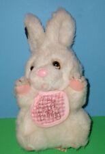 "Applause Little Beggar Bunny Rabbit Plush with Bib Rare Vintage 1984 8827 9"""