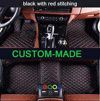 Leather Car Floor Mats for Benz C Class W203 Sedan 2000-2007 Waterproof Car Mats