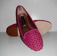 $139 New Steve Madden Karry Rhinestone Perforated Fuchsia Suede  Shoes sz 6