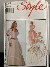 STYLE UNCUT WEDDING DRESSES PATTERN 2757 LINED 3 STYLES SIZE A 6 -18