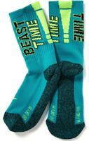 Old Navy Boy's Active Go-Dry Moisture Wicking Neon Crew Socks ☆You Choose Size☆
