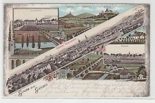 72379 Ak Lithographie Gruss aus Giessen Stadtansichten 1903