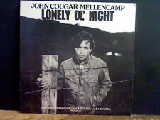 "JOHN COUGAR MELLENCAMP  Lonely Ol' Night  12""   PROMO"