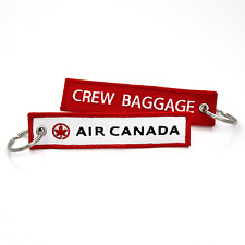 Air Canada-Crew Baggage Embroidered Keyrings x2