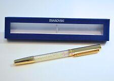 Swarovski Crystalline Stardust Gold Rollerball Pen 5136546 Genuine Brand New