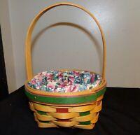 Longaberger 1999 Small Easter Basket & Spring Floral Liner
