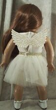 """Doll Clothes Made 2 Fit American Girl 18"""" Angel Bodysuit 2pcs Leopard Skirt"""