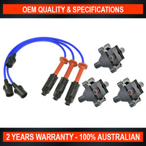 Swan Ignition Coil & NGK Lead Kit for Ssangyong Korando Musso Rexton 3.2L L6