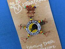 Beer Cap Pin Kenya Fair Trade Elephant Design African Ethnic Jewelry Tusker