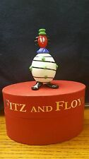 """Zippy"" The Clown Fitz And Floyd Collectible Glass Figurine New In Box"