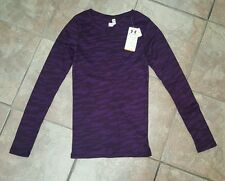 NWT- Women's Under Armour LS Thermal Top Size XS. Purple Camo Cozy Waffle Top