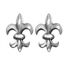 Sterling Silver Fleur-De-Lis Stud Earrings New  Fleur De Lis