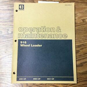 CAT Caterpillar 916 WHEEL LOADER OPERATION & MAINTENANCE MANUAL BOOK 2XB 9WB 5KC
