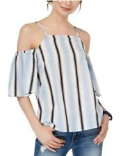 Almost Famous Striped Cold Shoulder Top  Small $34
