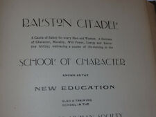 VINTAGE 1900 BOOK ''RALSTON CITADEL'. STAR RALSTONISM! 20th DEGREE BOOK!