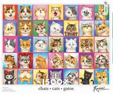 CEACO 1500 JIGSAW PUZZLE CATS, CATS, CATS KAYOMI HARIA #3401-31