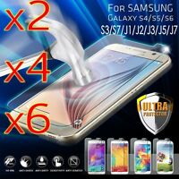 6x 9H Tempered Glass Film Screen Protector Cover for Samsung GALAXY J1-J7 S3-S7