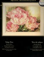 Dimensions Gold Collection Tulip Trio Counted Cross Stitch Kit 35175 NIP